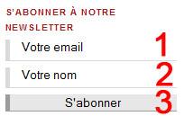 Ce formulaire se trouve sur la page principale du site, tous les visiteurs peuvent le voir.
